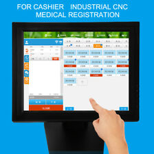 "15"" 4-Wire LED Touch Screen Display Monitor VGA USB POS Kiosk Restaurant Stand"