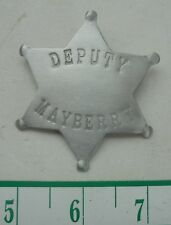 ANDY GRIFFITH TV Show - Mayberry Deputy Sheriff Badge Prop Replica - Don Knotts