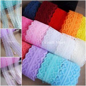 ***16 colours**** Lace ribbon trim sew on craft scrapbook wedding jar cards