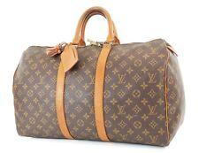 Authentic LOUIS VUITTON Keepall 45 Monogram Canvas Duffel Bag #36709