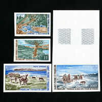 Saint Pierre Stamps # 383-4 + C41-2 Scarce imperf NH
