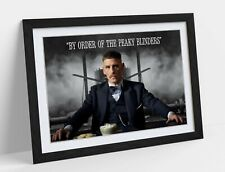 PEAKY BLINDERS ARTHUR SHELBY QUOTE -ART FRAMED POSTER PICTURE PRINT ARTWORK-NAVY
