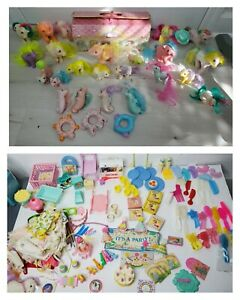 Vtg 80s Hasbro MY LITTLE PONY G1, Sea Ponies, CASE Clothes Shoes Party HUGE LOT