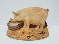 Vintage Cast Iron Pig Doorstop Bookend Decorative Piece Antique
