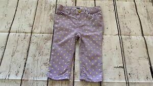 Baby Gap 1969 baby girl mini skinny capri pants 18-24 months old w/adju W21A
