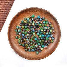 Handmade Men's Women's 8mm Natural Gemstones Macrame Beads For Necklace Bracelet