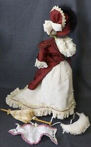 FULL OUTFIT FOR ANTIQUE DOLL, DOLL CLOTHING, FASHION DOLL