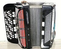 Weltmeister 5 Row Button Accordion Germany B-System Bayan 120 Bass/87 Treble
