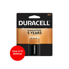 10 Count Duracell 9V Coppertop Alkaline Battery