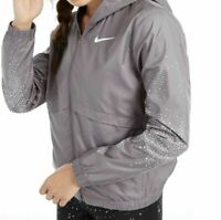 Nike Women's Essential Water-Repellent Hooded Running Jacket XS  Grey ys22