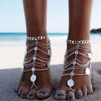 Bohemia Tassel Coin Beach Leg Bracelet Foot Chain Jewelry Anklet