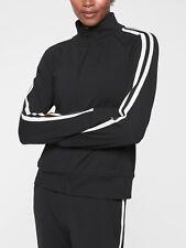 NWT Athleta Circa Track Jacket, Black SIZE XL                      #372201 N0110