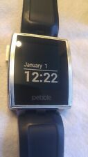Pebble Steel Smart Watch 401S original - with leather and silicone bands
