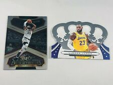 LEBRON JAMES 2019 - 2020 PANINI CROWN ROYALE LOT OF (2) LOS ANGELES LAKERS