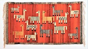 Mid Century Modern 1960s Kilim Tapestry rug by Maria Janowska Made in Poland