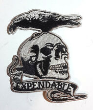 "Expendables Movie Skull & Bird Logo 4"" Embroidered Patch- FREE USA S&H(EXPA-01)"