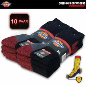 10 Paar DICKIES CUSHIONED CREW Work Arbeitssocken Business Socken Strümpfe Socks