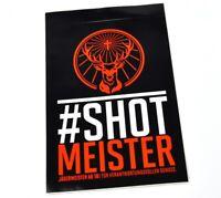 Jägermeister 10 x 7 cm Aufkleber Sticker orange Hirsch Logo - Shot Meister