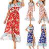 Off Shoulder Bohemian Floral Printed Maxi Dress Women Sleeveless Long Dress New