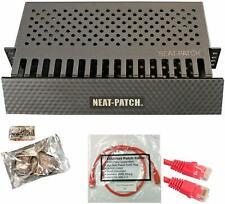 Neat Patch Cable Manager 1 Unit w/ 24 CAT6 Patch Cables (2FT Red) FREE SHIPPING!