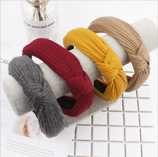 Womens Solid Hairband Twisted Knot Headband Headwrap Hair Band Hoop Accessories