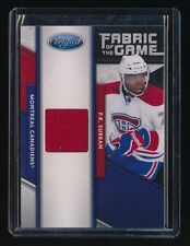 P.K. SUBBAN 2011-12 CERTIFIED FABRIC OF THE GAME JERSEY 076/399 CANADIENS