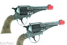Cap Gun Set Shoot 8 Shot Ring Caps  PAIR of TWO (2) Cap Gun Store 10982