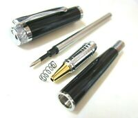 2 PCS of Classic Black heavy Body Ink Roller Pens TSP-927 One more free Refill