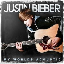 JUSTIN BIEBER My worlds Acoustic CD ++ BIG POSTER  10 Song PRAY - BABY - U SMILE