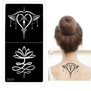 Henna Tattoo Schablone Airbrush Stencil Blume Herz Lotusblume Kina Dövme