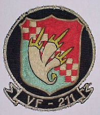 "1950s 60s US Navy Jacket Patch - ""VF-211"" - F-8 Crusader - ""The MiG Killers."""