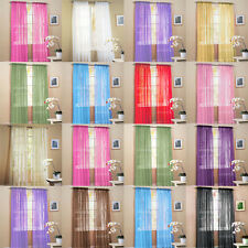 """2 Solid Sheer Voile Window Panel Curtains Drape Treatment Scarf 60""""x84"""" COLORS"""
