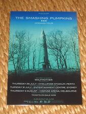THE SMASHING PUMPKINS - OCEANIA  AUSTRALIAN  TOUR  -  PROMO TOUR POSTER