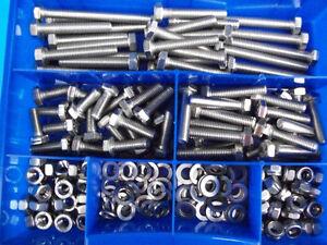 Sortimentkasten 250 Teile M7 Schrauben Box für Oldtimer,Traktoren,Mopeds XL