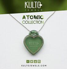 Collana Rosè Kulto Jewels con Cuore Verde Necklace