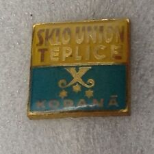 TEPLICE FK FOOTBALL CLUB CZECH REP OFFICIAL 196O'S STICK PIN BADGE VERY GOOD CON