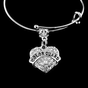 Color Guard bracelet color guard Crystal Heart charm bracelet  jewelry gift