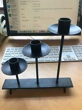 3 Candles Holder - Matt Black Sold Wrought Iron Fireplace