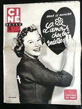 Ciné Revue 23/07/1954; June Allyson/ L'amour chez les vedettes/ Bob Roy; R Todd