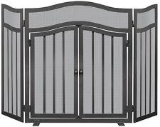 Uniflame 3 PANEL SCREEN w/DOORS S-1026 Fireplace Screen NEW