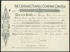 More details for channel tunnel company ltd., 4 shilling shares, 1929