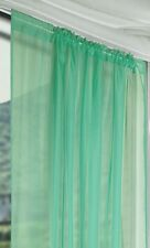 Lucy Slot Top Plain Voile Curtain Panel Most of Colours Choice Pistal Green 72""