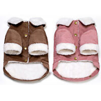 Puppy Pet Dog Cat Clothes Fleece Sweater Winter Warm Jacket Coat Costume Apparel
