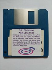 20 X World Famous Xmas MIDI Songs Files on  3.5 2DD Floppy Disk