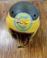 "Vintage Wilson Leather Football Helmet ""CHEROKEE BRAVES"" NC Christmas Gift"