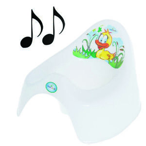 Easy Clean Toilet Potty Training Baby Kids Toddler Colourful Animal Duck (White)