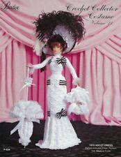 1910 Ascot Dress Vol. 23 Paradise Crochet Collector Costume Fashion Doll Pattern