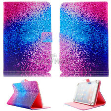"""US For 7.0 7"""" 10.1"""" inch Tablets Universal Leather Case Rainbow Sand Flip Cover"""