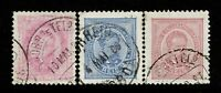 Portugal SC# 64-66, Used, all with shallow, small thins - S10064