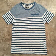 Union Made Jared Men's My Favorite Shirt T Blue White Stripe M